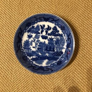 "4"" Blue Willow Pattern Plate"